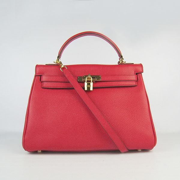 Hermes Kelly 32cm Togo Leather Bag Red 6108