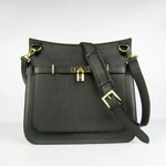 Hermes Jypsiere 32cm Leather Bag Black H6508