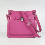 Hermes Jypsiere 32cm Leather Bag H6508 pink
