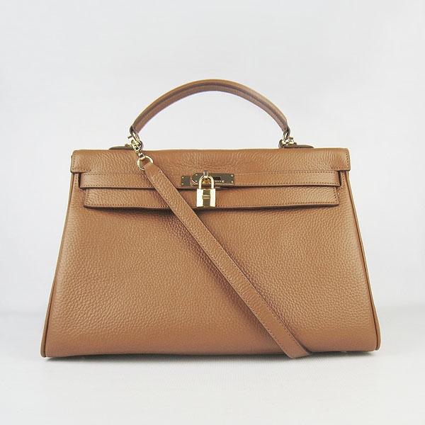Hermes Kelly 35cm Togo Leather Bag Light brown 6308