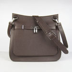 Hermes Jypsiere Fjord Leather Messenger Bag brown H6508