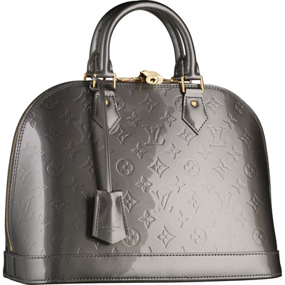 Louis Vuitton Monogram Vernis Alma PM Gris Art Deco M91613