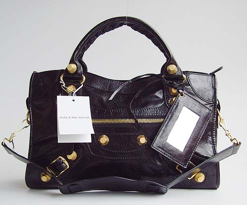 Balenciaga Giant City Black Handbag 084332
