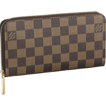 Louis Vuitton N60015 Damier Ebene Canvas Zippy Wallet Ebene