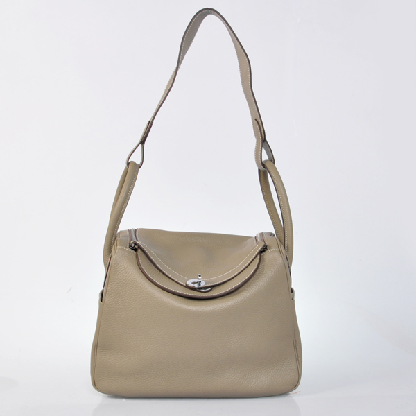 Hermes lindy 30cm Shoulder Bag grey 6207