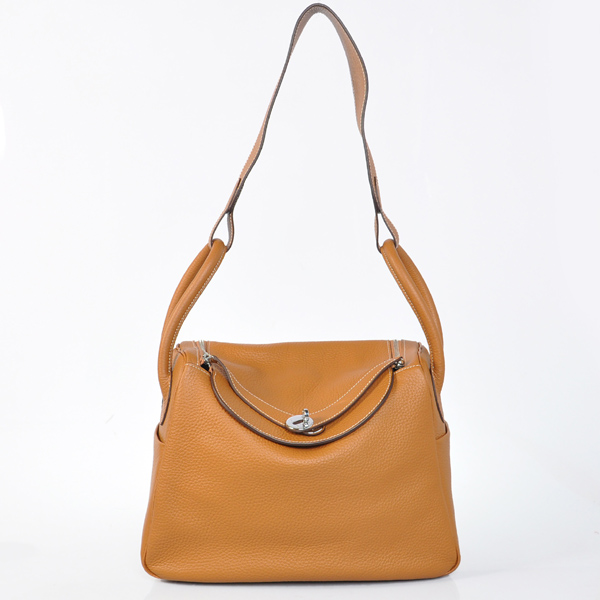 Hermes togo leather lindy bag Lindy30CM Light tan