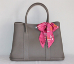 Hermes Garden Party Bag large sizes Gray H2808