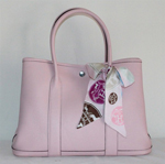 Hermes Garden Party Bag large sizes pink H2808