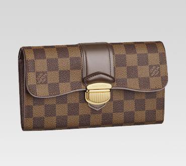 Louis Vuitton handbag damier canvas sistina wallet n61747