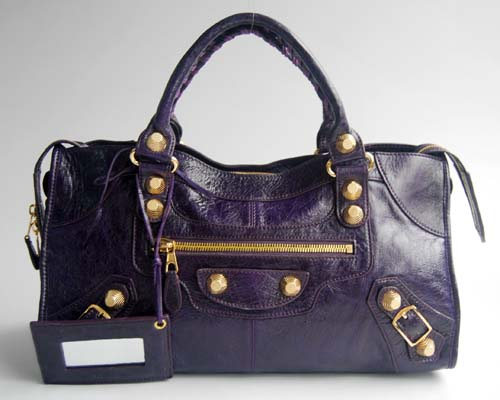 Balenciaga The City Handbag 084328B Purple