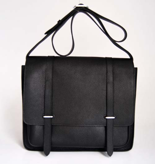 Hermes Jypsiere Togo Leather Messenger Bag black 92111