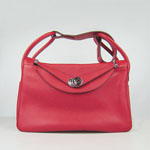 Hermes togo leather lindy bag (red)