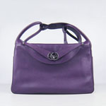 Hermes togo leather lindy bag 6208 Purple