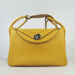 Hermes togo leather lindy bag 6208 yellow