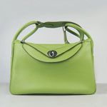 Hermes togo leather lindy bag 6208 green