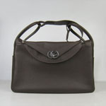 Hermes Women Shoulder Bag  6208 Dark brown