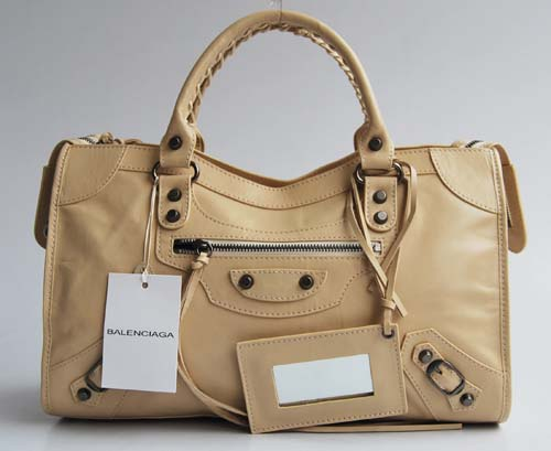 balenciaga motorcycle saddle bag 38cm 084332-2- Beige