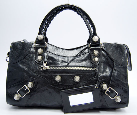 Balenciaga Giant City Top Handle Large Bag Black 173082A