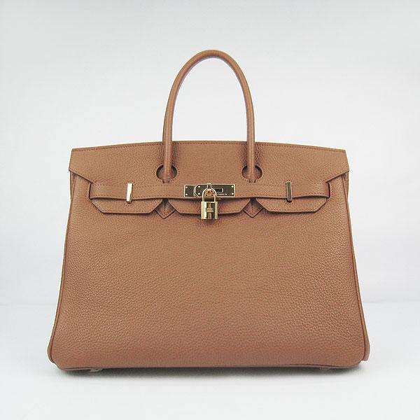 Hermes Birkin 35CM Togo Original Leather handbag 6089 coffee