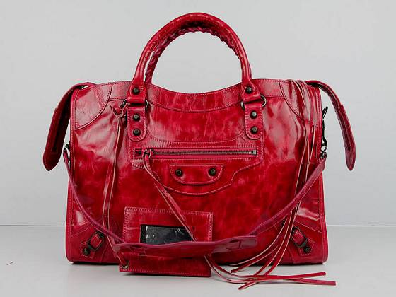 Balenciaga The City Handbag red Sheepskin 084332