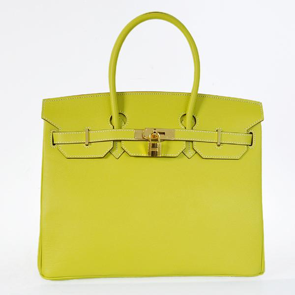 Hermes Candy Birkin Bag H35 Epsom Leather gold Hardware yellow