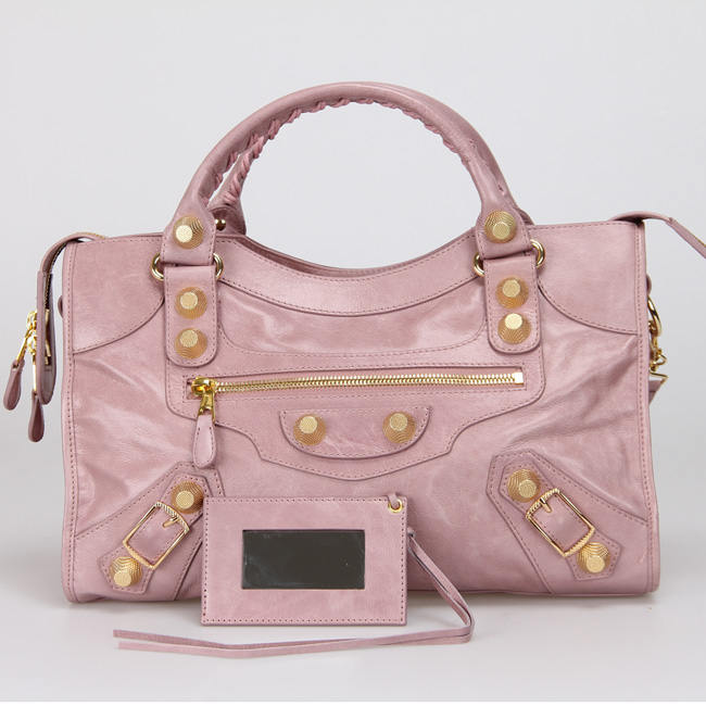 Balenciaga The City Handbag 084832 pink