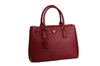 Prada Lux Saffiano BN2274 Tote Big red
