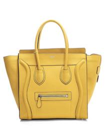 2012 Celine Boston smile Tote handbag 3308 yellow