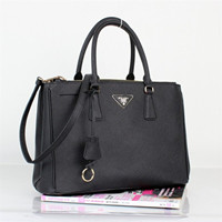 Prada Saffiano Calf Leather Tote BN-2274 black