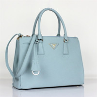 Prada 2012 Saffiano Leather Tote Bag BN-1801 light blue
