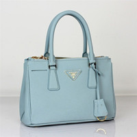 Prada 2012 Saffiano Leather Tote Bag BN-2316 light blue