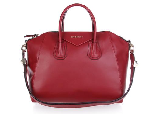 Givenchy handbags 9981 wine red