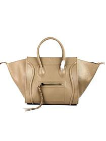 2012 Celine Luggage phantom square tote leather 88033 apricot