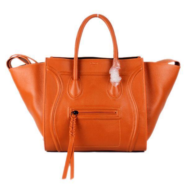 cheap Celine luggage phantom square tote bag 88033 orange