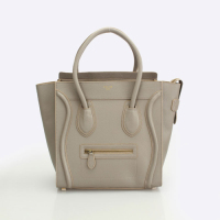 celine boston smile tote handbag 98169 light khaki