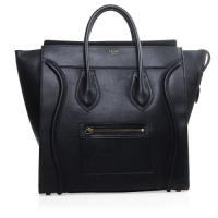 Celine Luggage Tote original leather handbag 3306 black