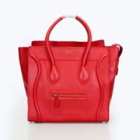 2013 Celine Boston Smile Tote Handbag 98169 red