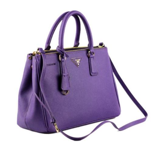 Prada Leather Tote 2274 Purple