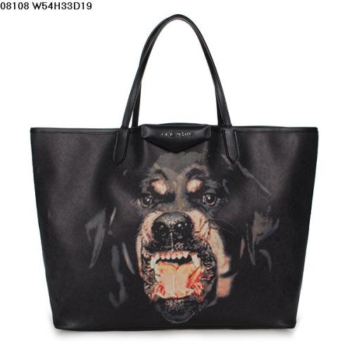 2013 Givenchy Antigona Shopping Bag Printed Pottweiler 08108 large black