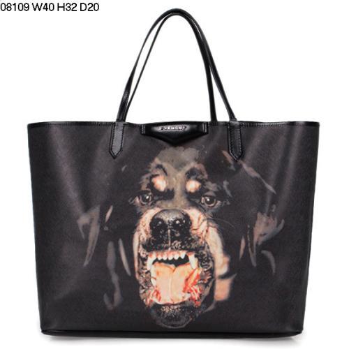 2013 Givenchy Antigona Shopping Bag Printed Pottweiler 08109 black