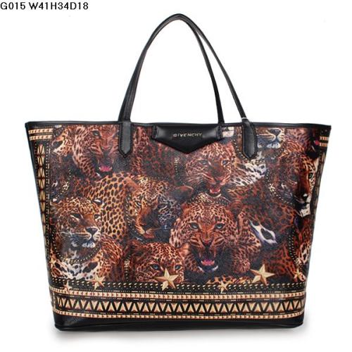 2013 Givenchy Antigona Shopping Bag Printed Leopard G015 black