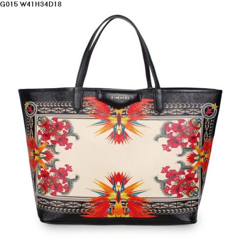 2013 Givenchy Antigona Shopping Bag Printed Phoenix G015 flower black
