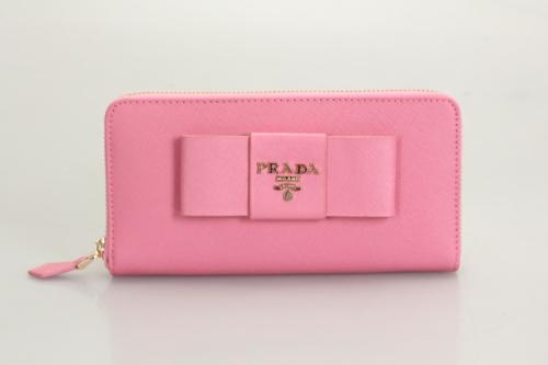 Prada wallet flower 0506 cherry pink
