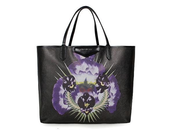 2013 Givenchy Antigona Shopping Bag Printed flower G015 black