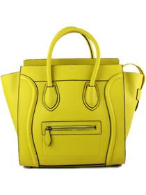 Hot 2013 celine luggge tote handbag 88022 fluorescent yellow