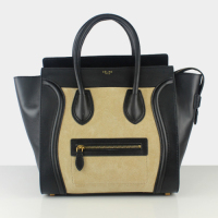 2013 celine luggge tote handbag 88022 black&yellow