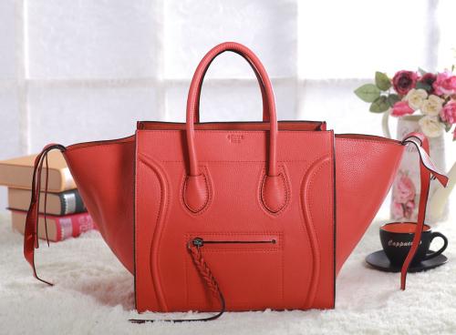 2013 Celine luggage phantom square original leather bag 3341 orange