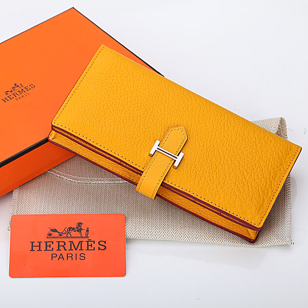 2014 Hermes new original leather A208 yellow