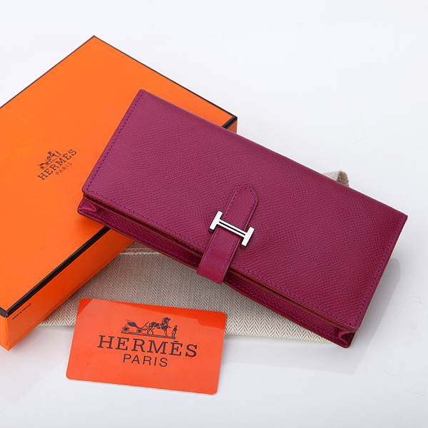 2014 Hermes new original leather palm print A208 red purple