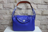 2014 Hermes togo leather lindy bag Lindy30CM blue&orange